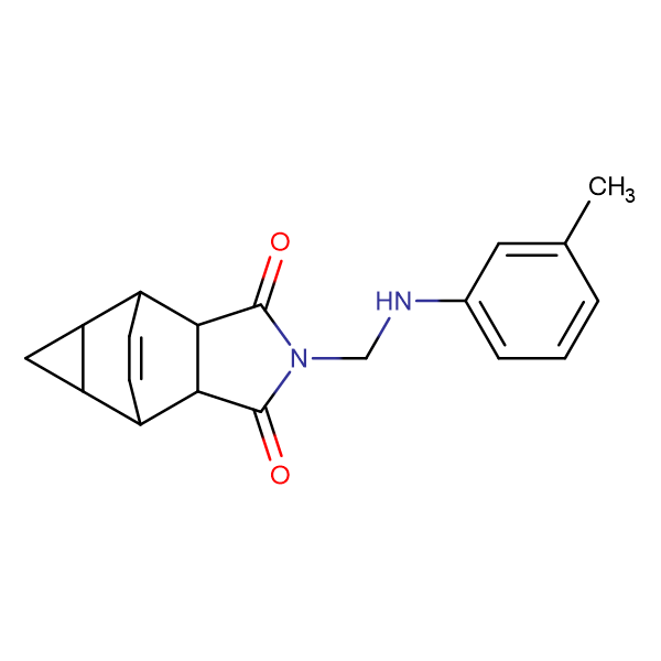 2-{[(3-methylphenyl)amino]methyl}hexahydro-4,6-ethenocyclopropa[f]isoindole-1,3(3aH)-dione