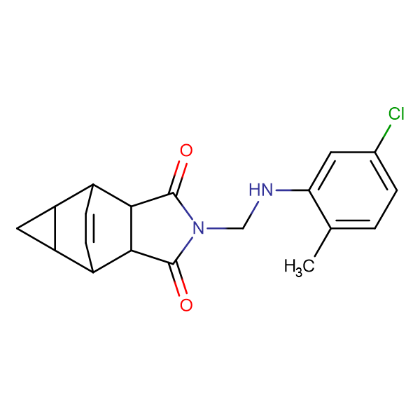 2-{[(5-chloro-2-methylphenyl)amino]methyl}hexahydro-4,6-ethenocyclopropa[f]isoindole-1,3(3aH)-dione