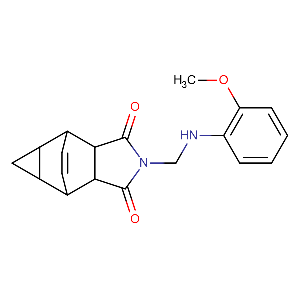 2-{[(2-methoxyphenyl)amino]methyl}hexahydro-4,6-ethenocyclopropa[f]isoindole-1,3(3aH)-dione