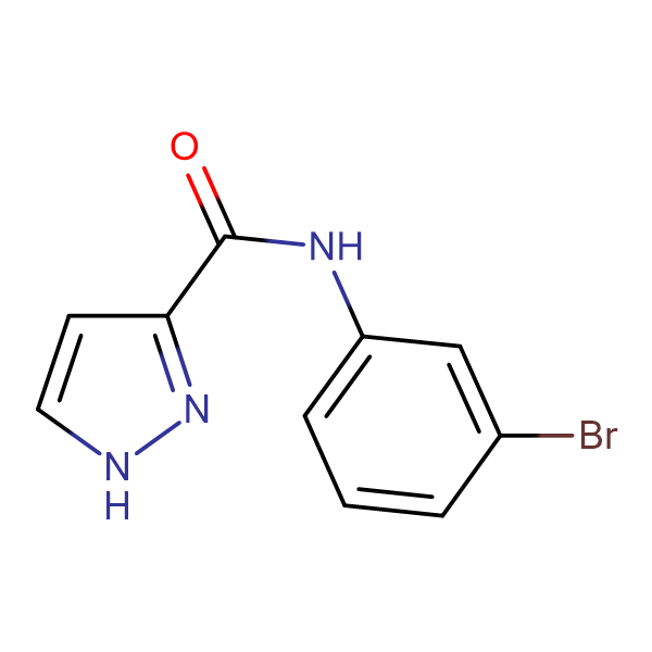 N-(3-bromophenyl)-1H-pyrazole-3-carboxamide