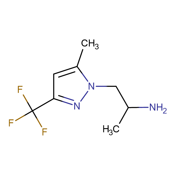 {1-methyl-2-[5-methyl-3-(trifluoromethyl)-1H-pyrazol-1-yl]ethyl}amine