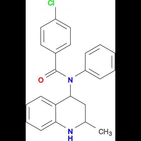 4-chloro-N-(2-methyl-1,2,3,4-tetrahydroquinolin-4-yl)-N-phenylbenzamide
