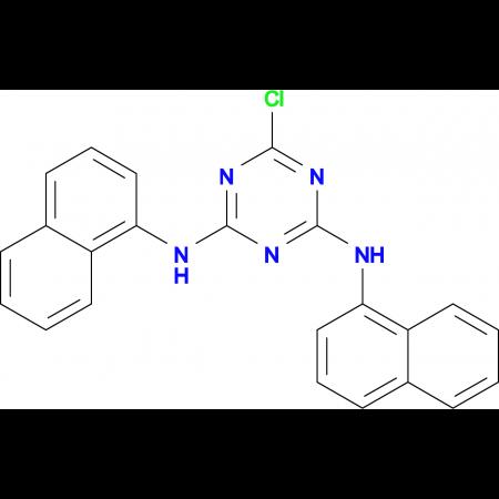 6-chloro-N,N'-di-1-naphthyl-1,3,5-triazine-2,4-diamine