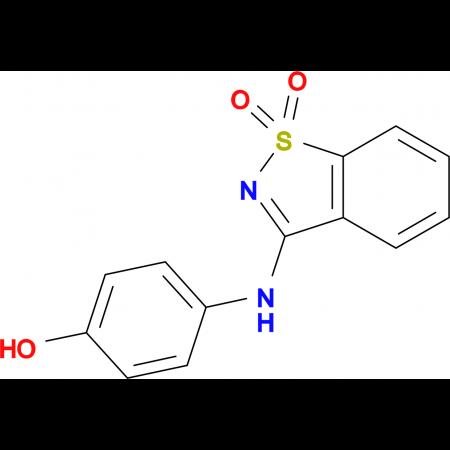 4-[(1,1-dioxido-1,2-benzisothiazol-3-yl)amino]phenol