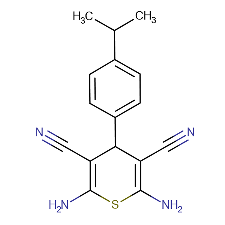 2,6-diamino-4-(4-isopropylphenyl)-4H-thiopyran-3,5-dicarbonitrile