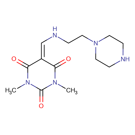 1,3-dimethyl-5-{[(2-piperazin-1-ylethyl)amino]methylene}pyrimidine-2,4,6(1H,3H,5H)-trione