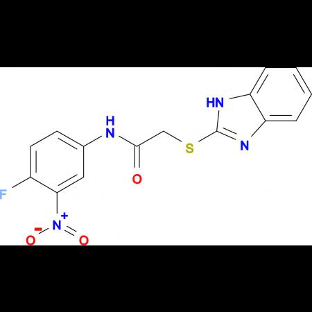2-(1H-benzimidazol-2-ylthio)-N-(4-fluoro-3-nitrophenyl)acetamide
