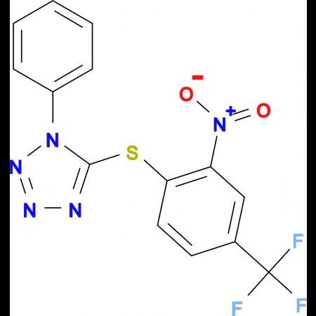 5-{[2-nitro-4-(trifluoromethyl)phenyl]thio}-1-phenyl-1H-tetrazole