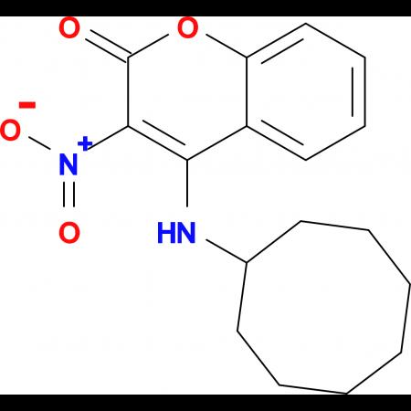 4-(cyclooctylamino)-3-nitro-2H-chromen-2-one