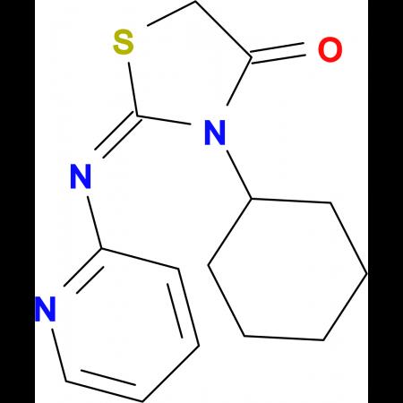 (2E)-3-cyclohexyl-2-(pyridin-2-ylimino)-1,3-thiazolidin-4-one