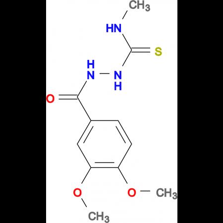 2-(3,4-dimethoxybenzoyl)-N-methylhydrazinecarbothioamide