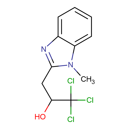 1,1,1-trichloro-3-(1-methyl-1H-benzimidazol-2-yl)propan-2-ol