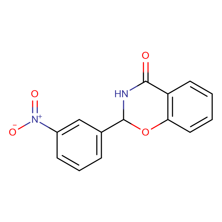 2-(3-nitrophenyl)-2,3-dihydro-4H-1,3-benzoxazin-4-one