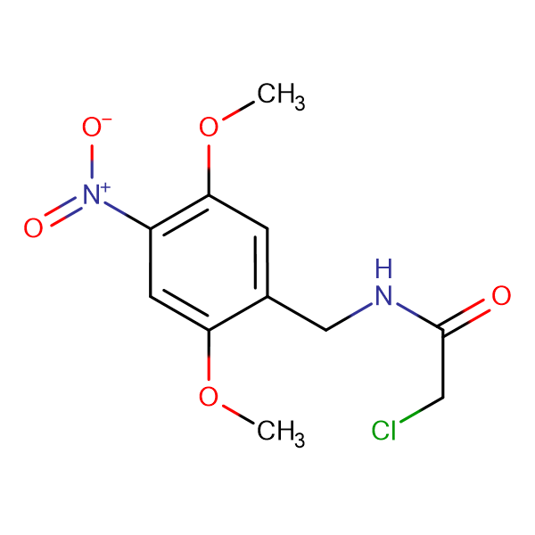 2-chloro-N-(2,5-dimethoxy-4-nitrobenzyl)acetamide