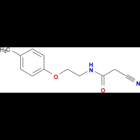 2-cyano-N-[2-(4-methylphenoxy)ethyl]acetamide