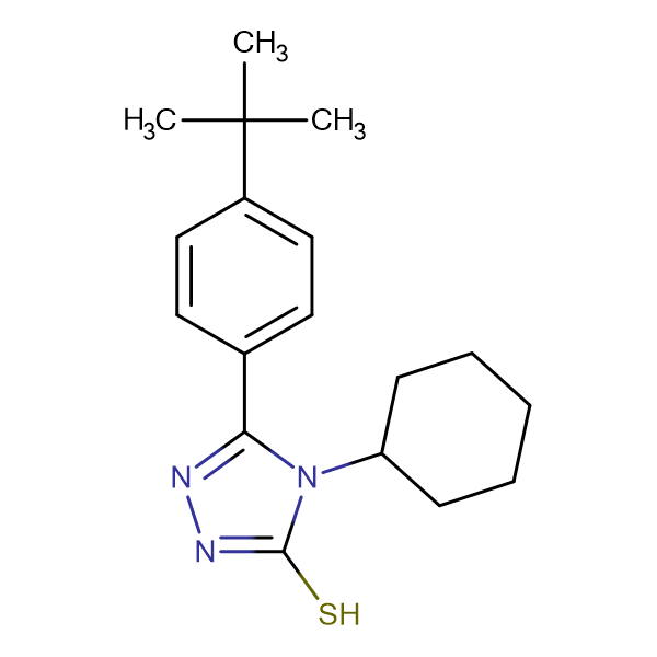5-(4-tert-butylphenyl)-4-cyclohexyl-4H-1,2,4-triazole-3-thiol