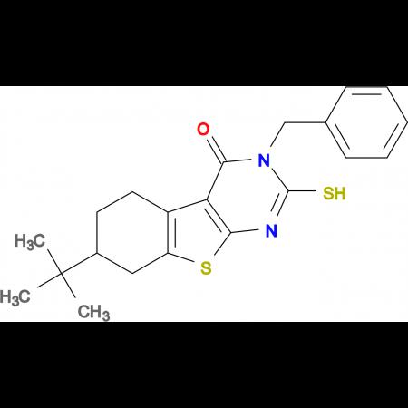 3-benzyl-7-tert-butyl-2-mercapto-5,6,7,8-tetrahydro[1]benzothieno[2,3-d]pyrimidin-4(3H)-one