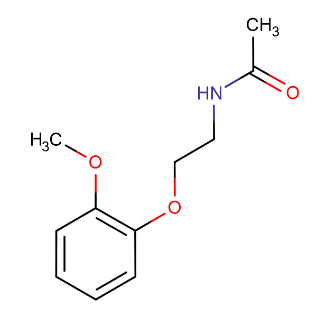 N-[2-(2-methoxyphenoxy)ethyl]acetamide
