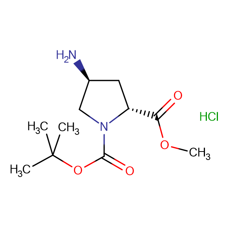 (2R,4S)-1-tert-Butyl 2-methyl 4-aminopyrrolidine-1,2-dicarboxylate hydrochloride