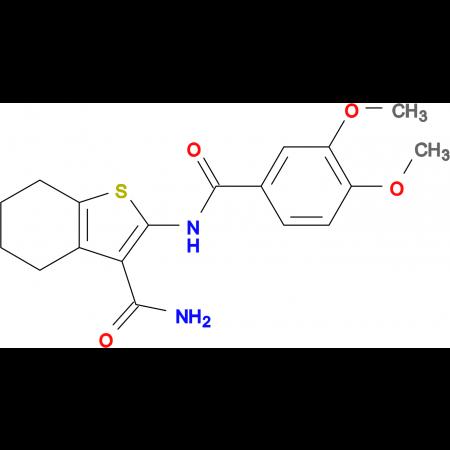 2-(3,4-DIMETHOXYBENZAMIDO)-4,5,6,7-TETRAHYDROBENZO[B]THIOPHENE-3-CARBOXAMIDE