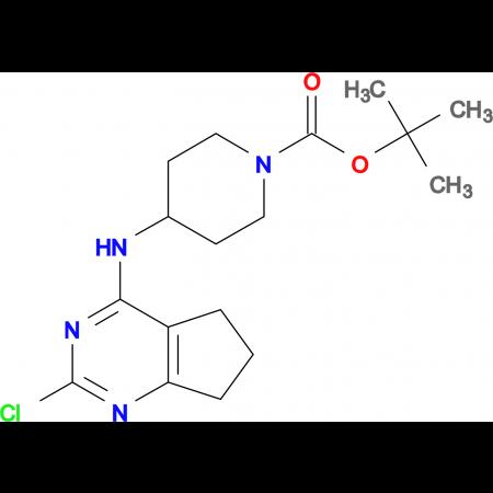 TERT-BUTYL 4-(2-CHLORO-6,7-DIHYDRO-5H-CYCLOPENTA[D]PYRIMIDIN-4-YLAMINO)PIPERIDINE-1-CARBOXYLATE