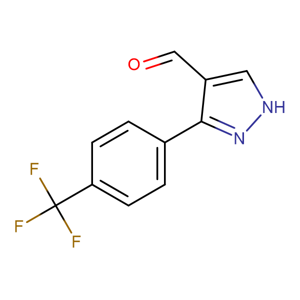 3-[4-(TRIFLUOROMETHYL)PHENYL]-1H-PYRAZOLE-4-CARBALDEHYDE