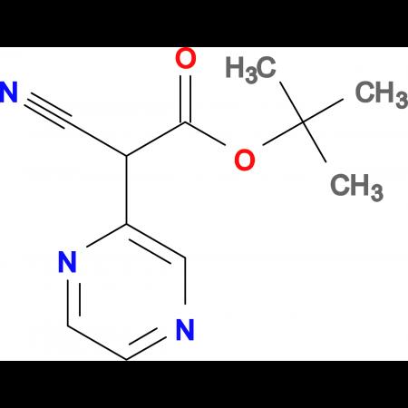 TERT-BUTYL 2-CYANO-2-(PYRAZIN-2-YL)ACETATE