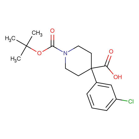 1-(TERT-BUTOXYCARBONYL)-4-(3-CHLOROPHENYL)PIPERIDINE-4-CARBOXYLIC ACID