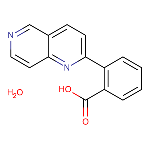 2-(1,6-Naphthyridin-2-yl)benzoic acid hydrate