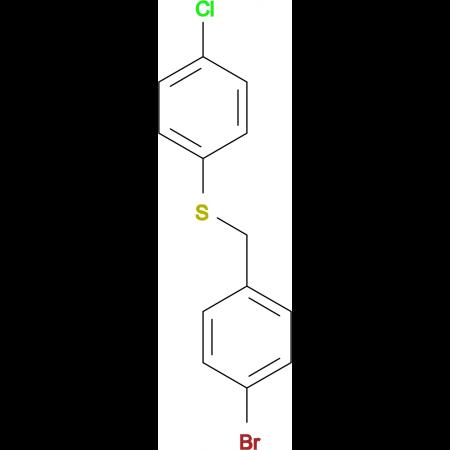 1-Bromo-4-[(4-chlorophenyl)sulfanylmethyl]benzene