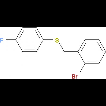 1-Bromo-2-[(4-fluorophenyl)sulfanylmethyl]benzene