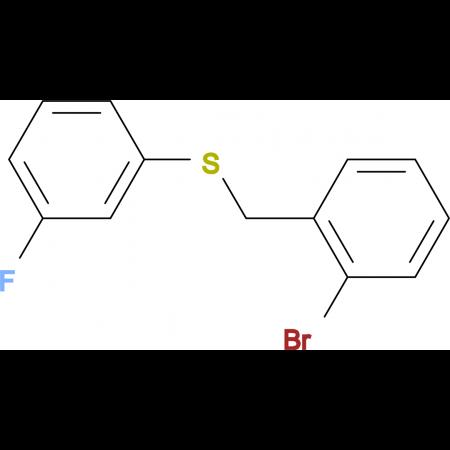 1-Bromo-2-[(3-fluorophenyl)sulfanylmethyl]benzene