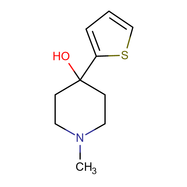 4-Hydroxy-4-(2-thienyl)-1-methylpiperidine