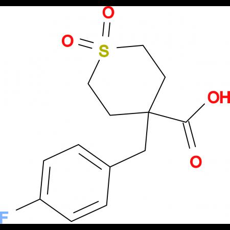 4-[(4-Fluorophenyl)methyl]-1,1-dioxo-1Lambda(6)-thiane-4-carboxylic acid