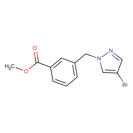 methyl 3-[(4-bromo-1H-pyrazol-1-yl)methyl]benzoate