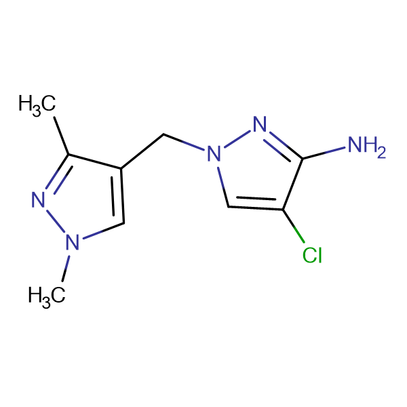 4-chloro-1-[(1,3-dimethyl-1H-pyrazol-4-yl)methyl]-1H-pyrazol-3-amine