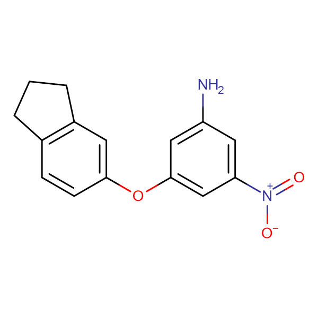 3-(2,3-dihydro-1H-inden-5-yloxy)-5-nitroaniline