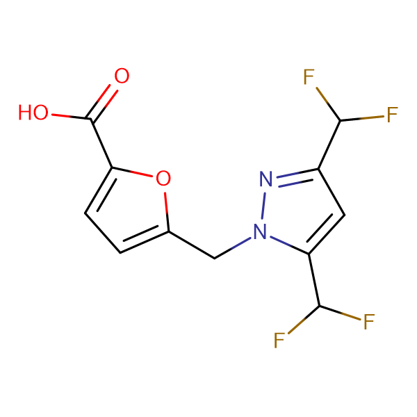 5-{[3,5-bis(difluoromethyl)-1H-pyrazol-1-yl]methyl}-2-furoic acid