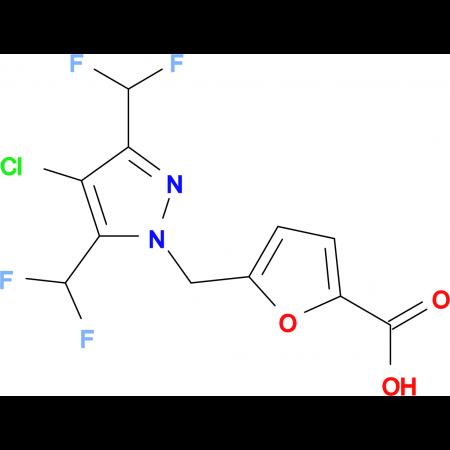 5-{[4-chloro-3,5-bis(difluoromethyl)-1H-pyrazol-1-yl]methyl}-2-furoic acid