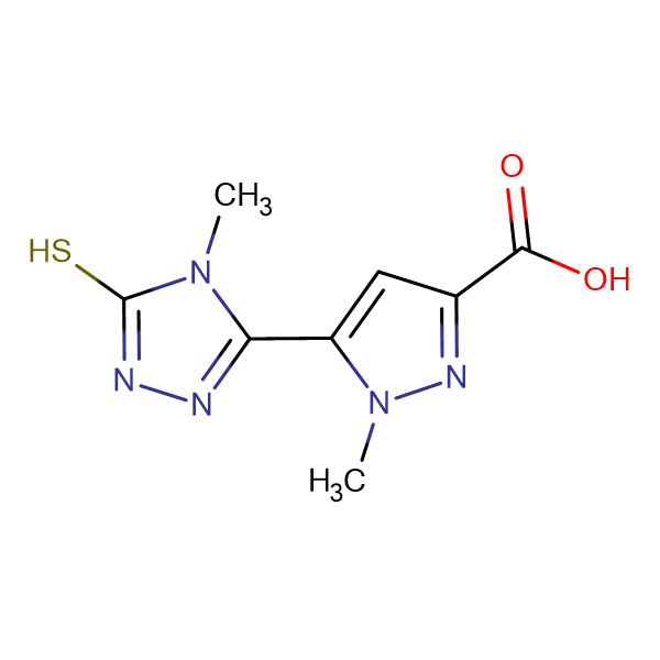 5-(5-mercapto-4-methyl-4H-1,2,4-triazol-3-yl)-1-methyl-1H-pyrazole-3-carboxylic acid
