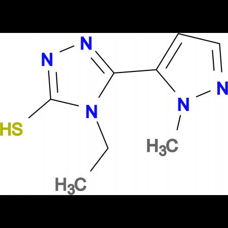 4-ethyl-5-(1-methyl-1H-pyrazol-5-yl)-4H-1,2,4-triazole-3-thiol