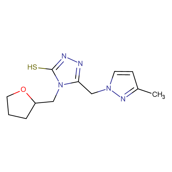 5-[(3-methyl-1H-pyrazol-1-yl)methyl]-4-(tetrahydrofuran-2-ylmethyl)-4H-1,2,4-triazole-3-thiol