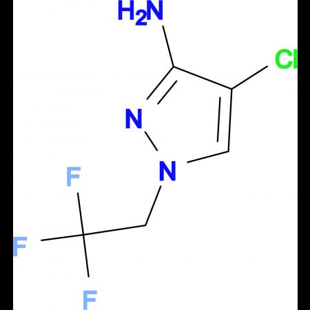 4-chloro-1-(2,2,2-trifluoroethyl)-1H-pyrazol-3-amine