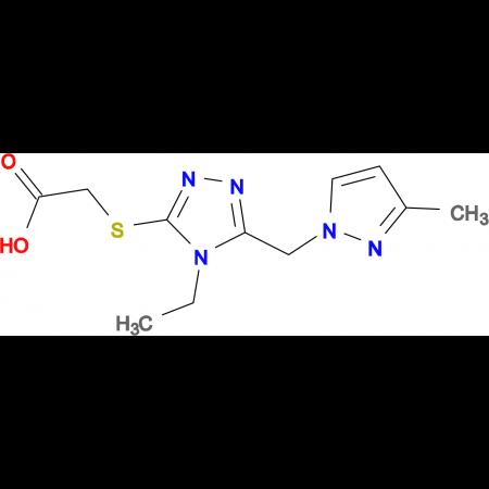 ({4-ethyl-5-[(3-methyl-1H-pyrazol-1-yl)methyl]-4H-1,2,4-triazol-3-yl}thio)acetic acid