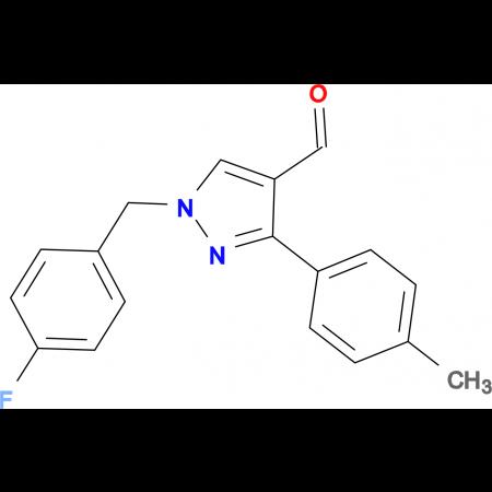 1-(4-fluorobenzyl)-3-(4-methylphenyl)-1H-pyrazole-4-carbaldehyde