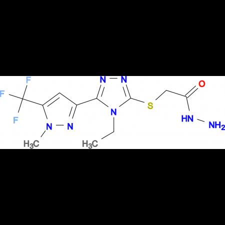 2-({4-ethyl-5-[1-methyl-5-(trifluoromethyl)-1H-pyrazol-3-yl]-4H-1,2,4-triazol-3-yl}thio)acetohydrazide