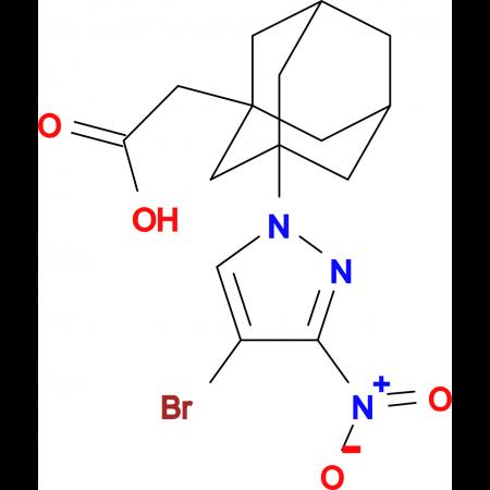[3-(4-bromo-3-nitro-1H-pyrazol-1-yl)-1-adamantyl]acetic acid