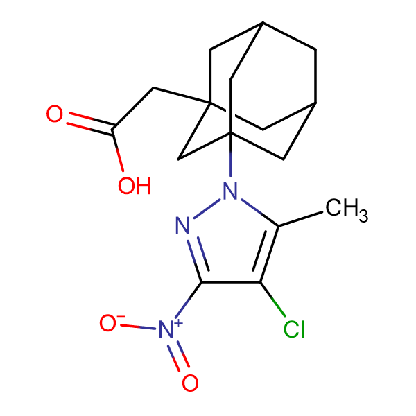 [3-(4-chloro-5-methyl-3-nitro-1H-pyrazol-1-yl)-1-adamantyl]acetic acid