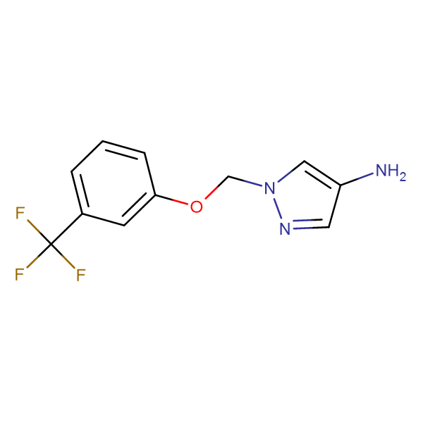 1-{[3-(trifluoromethyl)phenoxy]methyl}-1H-pyrazol-4-amine