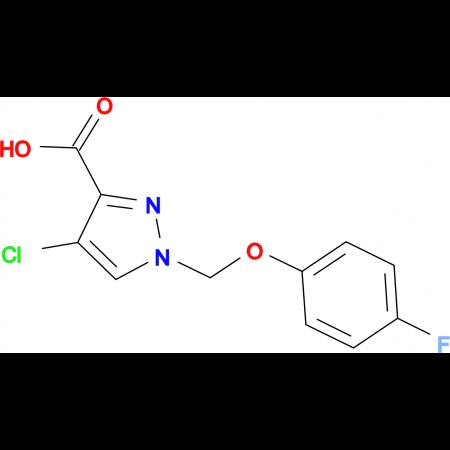 4-chloro-1-[(4-fluorophenoxy)methyl]-1H-pyrazole-3-carboxylic acid